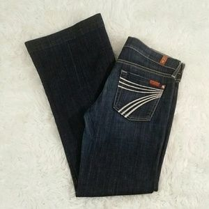 Size 26 7FAM  Dojo Trouser Jeans